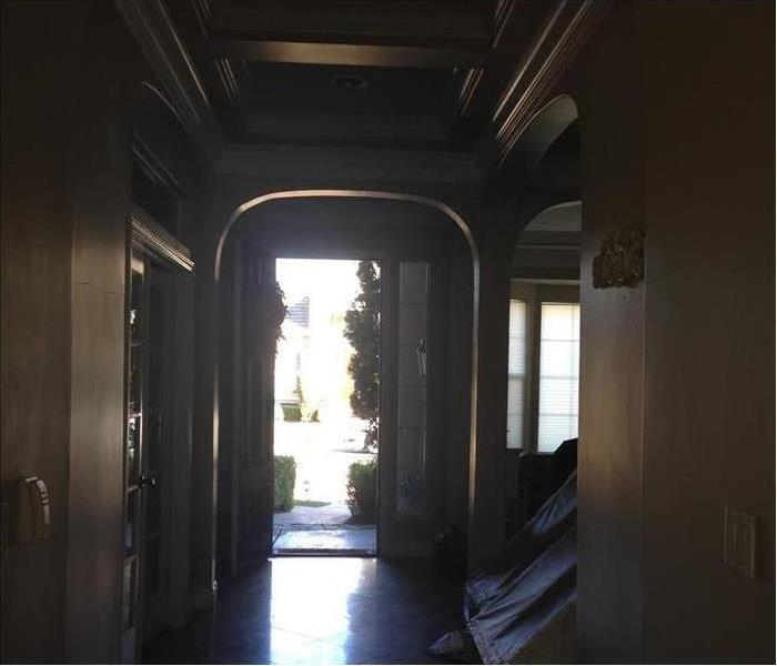 Photo of entryway with smoke damage