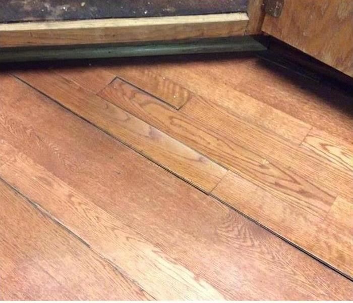 Wood flooring with water damage